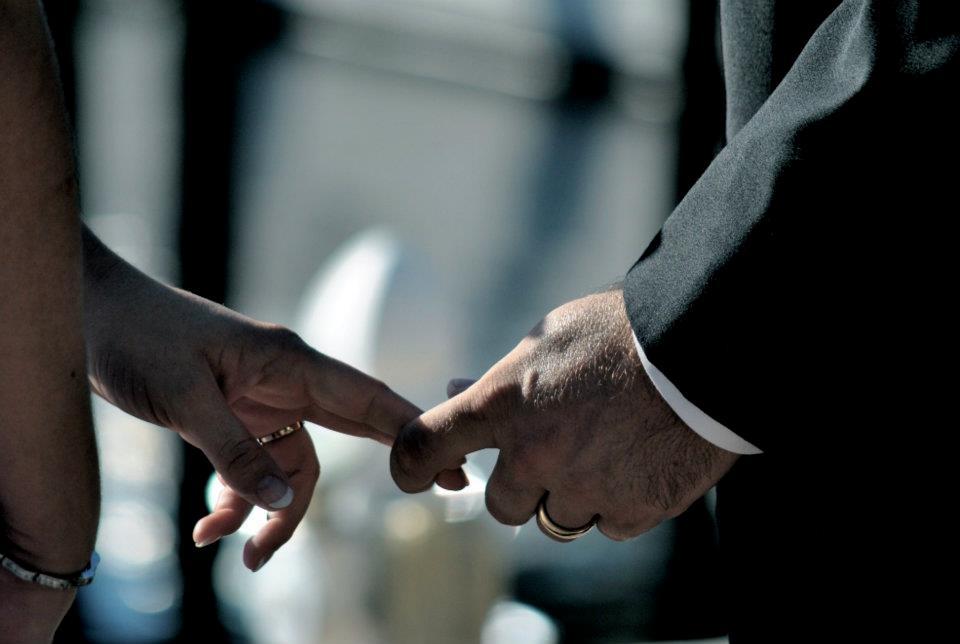 Barrus Wedding - Hand in hand