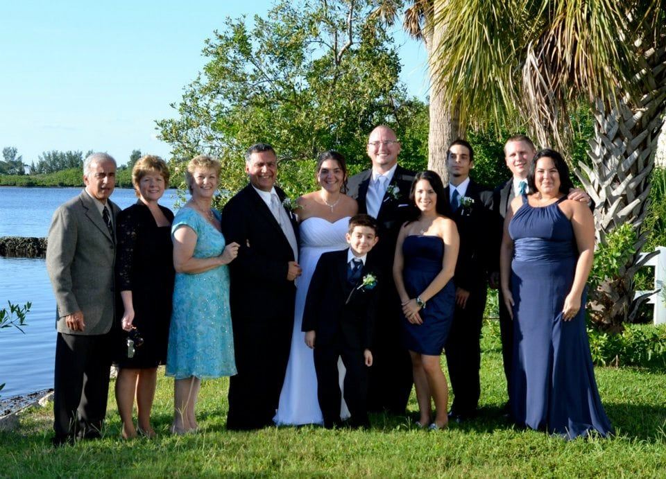 Barrus Wedding - Wedding party photo op