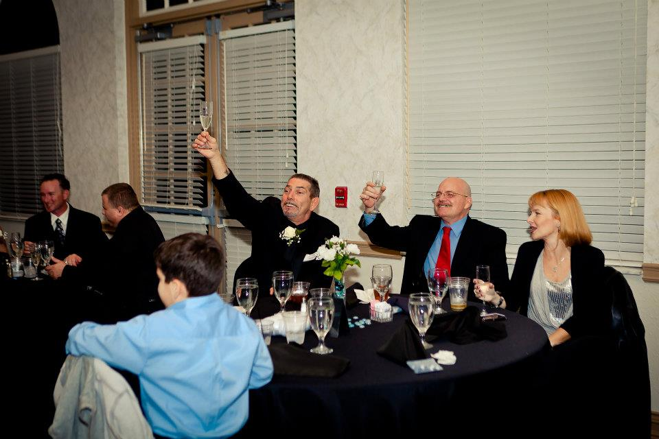 Behnke Wedding - A toast to the bride and groom