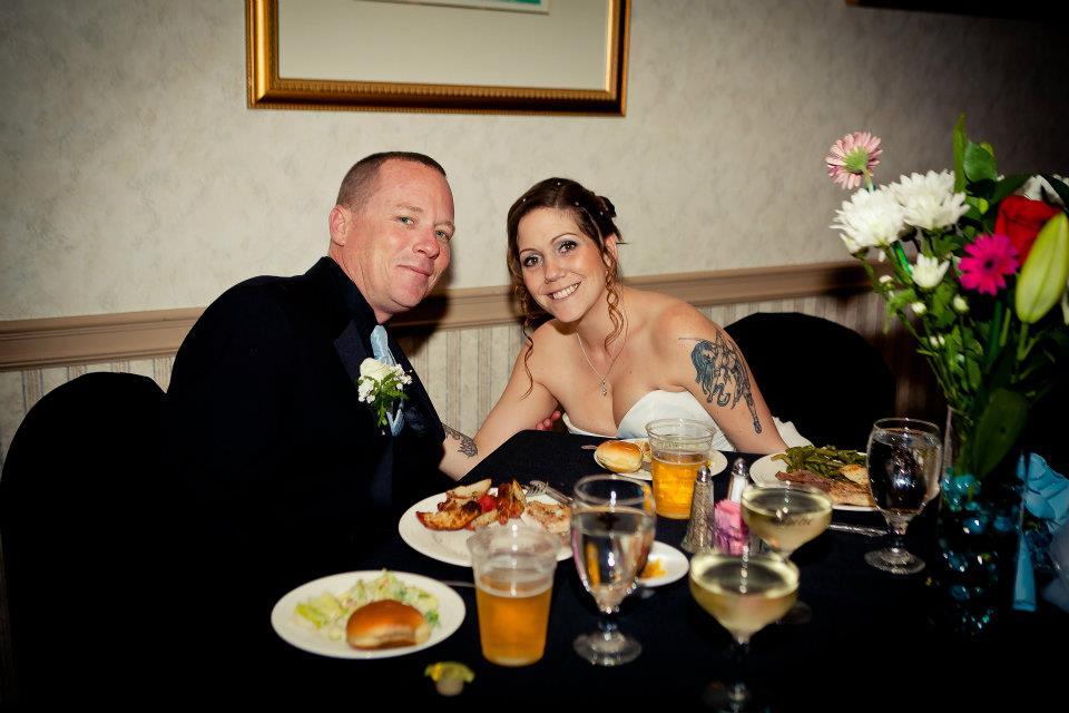 Behnke Wedding - Cheesing for the camera