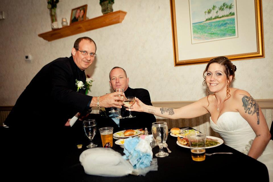 Behnke Wedding - They'll drink to that