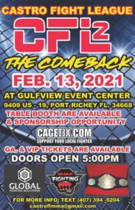 CFL2 - MMA Event @ Gulf View Event Center